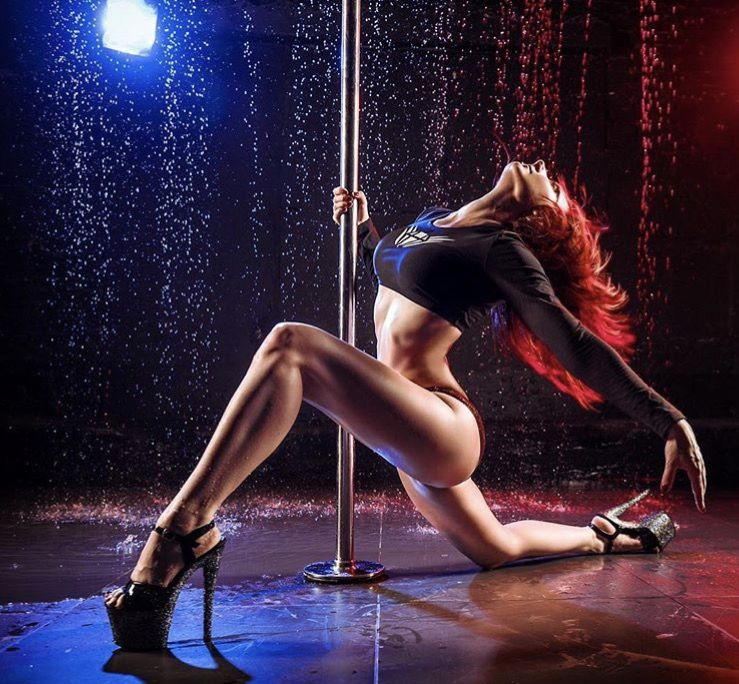Christina model red top dance tease photo download