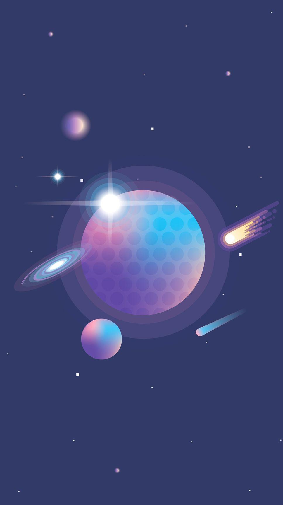 Vibrant Universe Creator Freebie Space illustration- Polar Vectors
