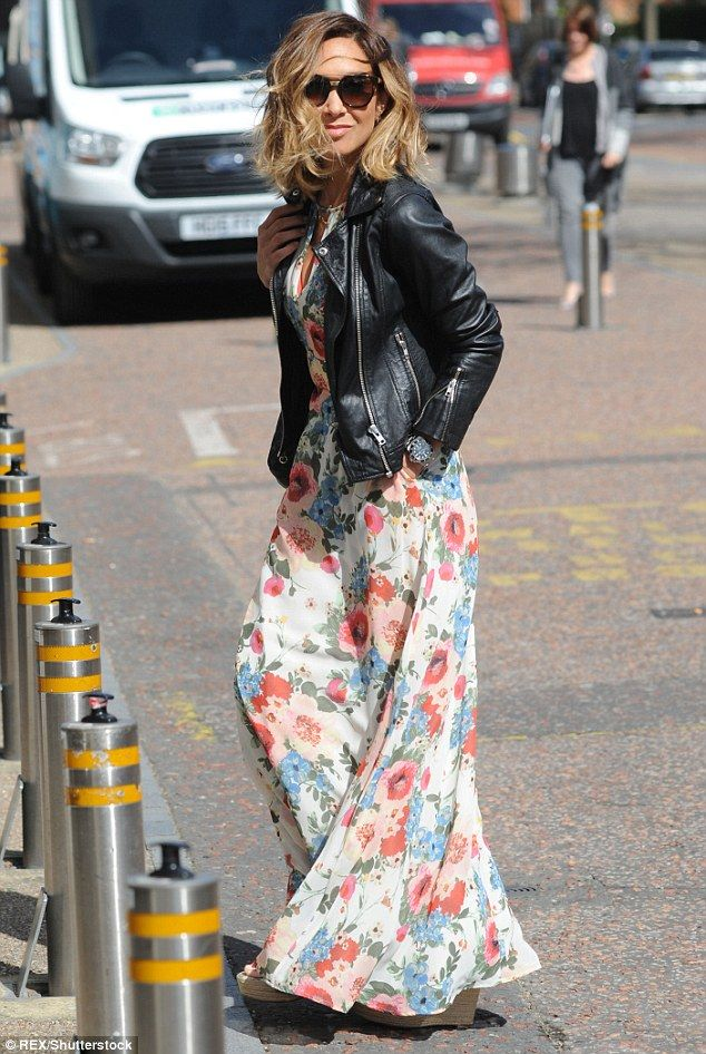 b1609a5bf5 Summer vibes: Myleene Klass looked ahead to summer on Tuesday as she  plucked something floral from her new season wardrobe