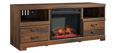 Quinden 64 Tv Console W 22 Electric Log Fireplace Fireplace