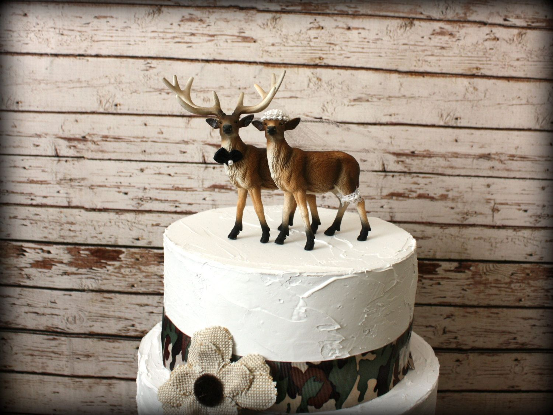 Buck and doe wedding cake topper-Deer hunting wedding cake topper ...