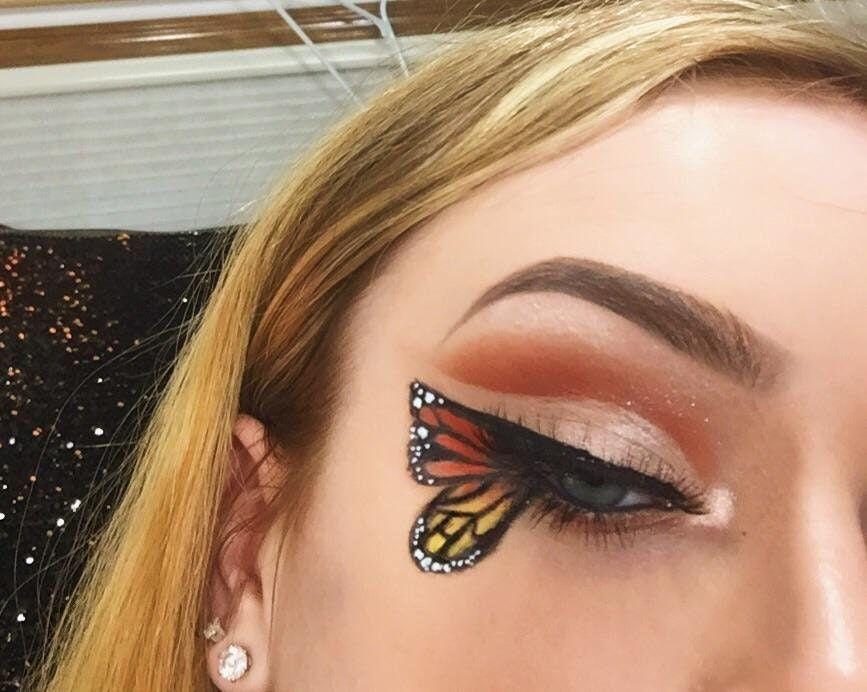 Just A Basic Winged Liner Look Makeupaddiction Butterfly Makeup Artistry Makeup Creative Eye Makeup
