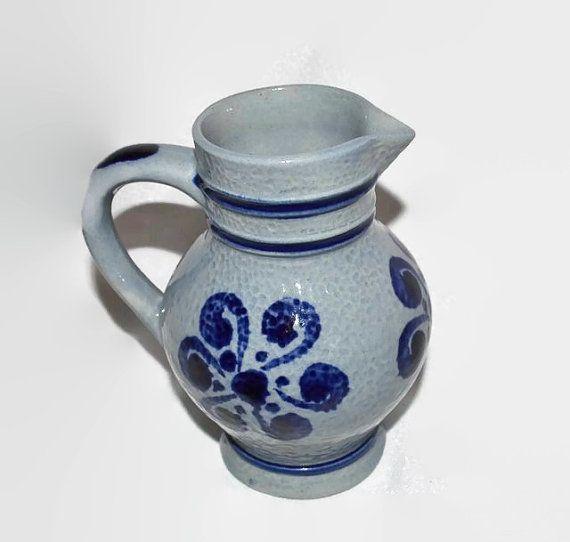 German Salt Glazed Stoneware Creamer Pitcher by ChicMouseVintage