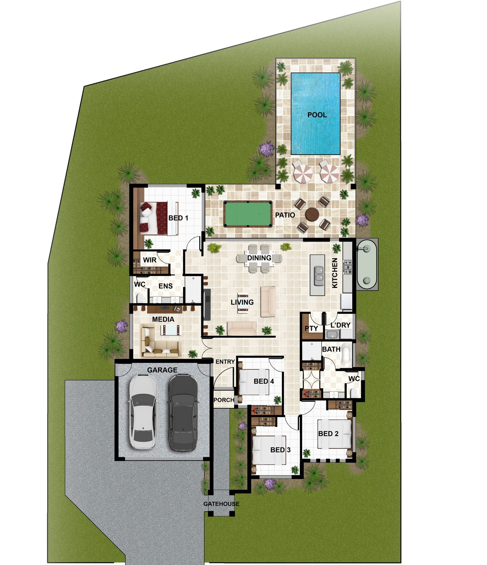 2D Colour Floor Plan Using Our Products