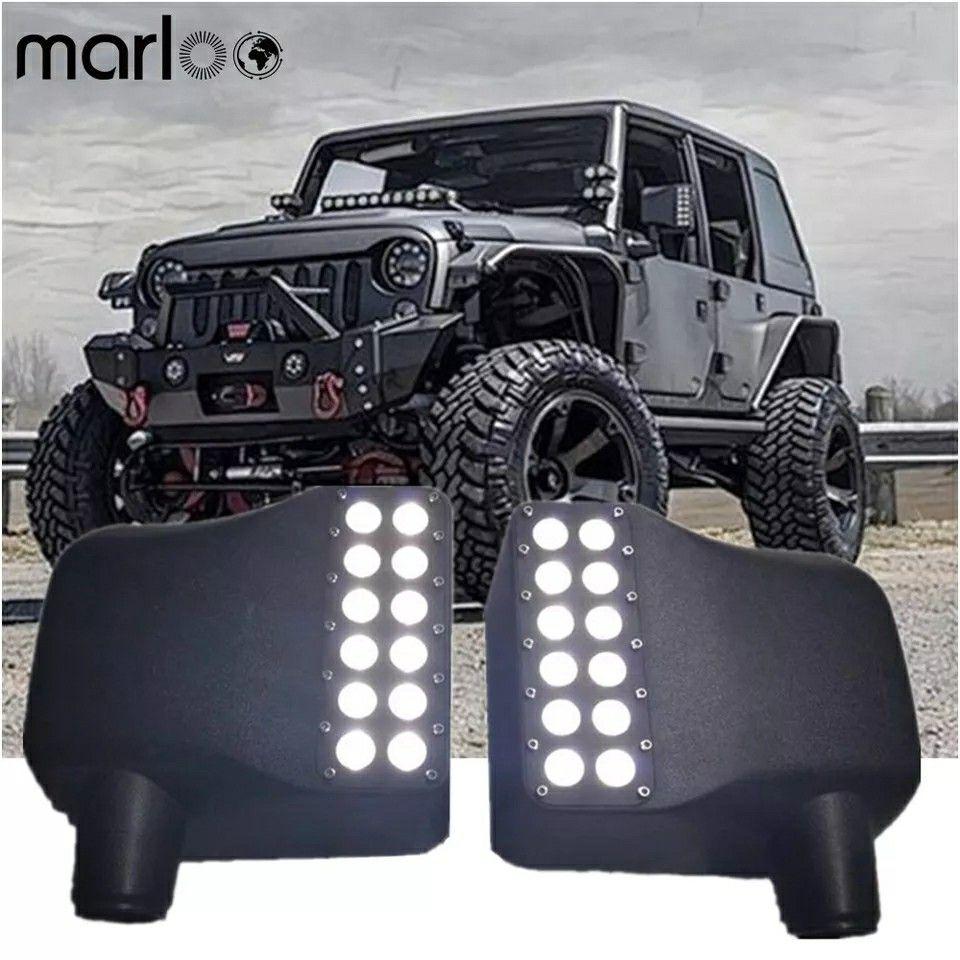 Wrangler Jk Led Side Mirror Cover Lights White Drl Amber Turn Signal Light For 2007 2018 Jeep Wrangler Jk Motowey Com J Jeep Jeep Wrangler Wrangler Jk