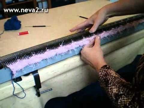как вязать берет на вязальной машине нева 2 ленточное вязание