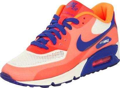 new style 3c0e0 2ff5c Nike Air Max 90 Hyperfuse Premium W Schuhe orange beige blau