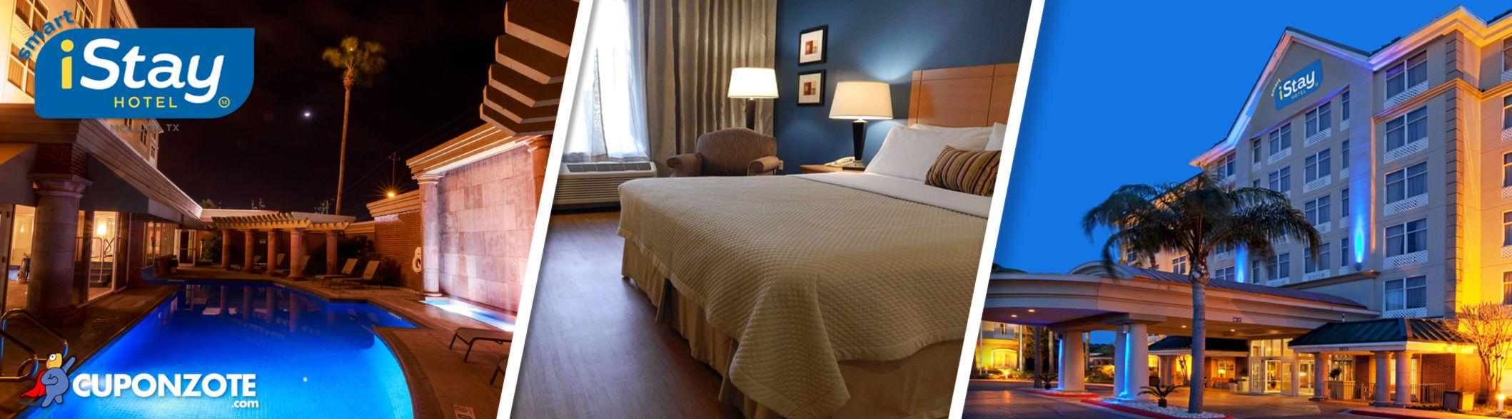 Disfruta de tu estancia en Smart iStay Hotel McAllen con desayuno incluido + Transportación (con acceso a alberca techada o al aire libre climatizadas) por $89 USD | Pide tu Cuponzote: http://bit.ly/1HVR08t | Reservaciones/Informes: 01800 0047 829