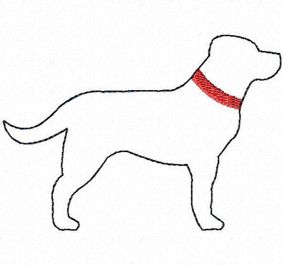 Raggy Lab Dog applique design 5 sizes INSTANT DOWNLOAD