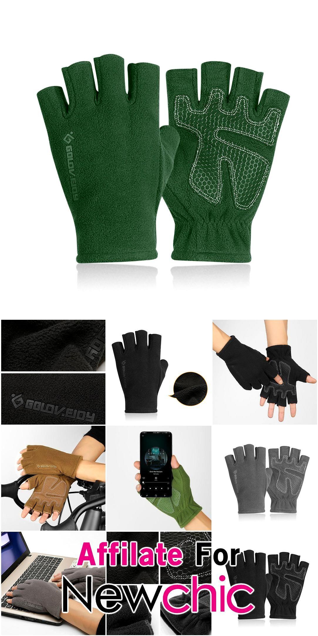 Men Winter Warm Nonslip Wear Resistant Convenient Gloves Outdoor Skiing Driving Halffinger Gloves Men Winter Warm Nonslip Wear Resistant Convenient Gloves Outdoor Skiing...