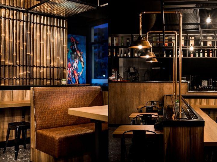 Koi japanese sushi train by bho interiors perth australia retail design blog