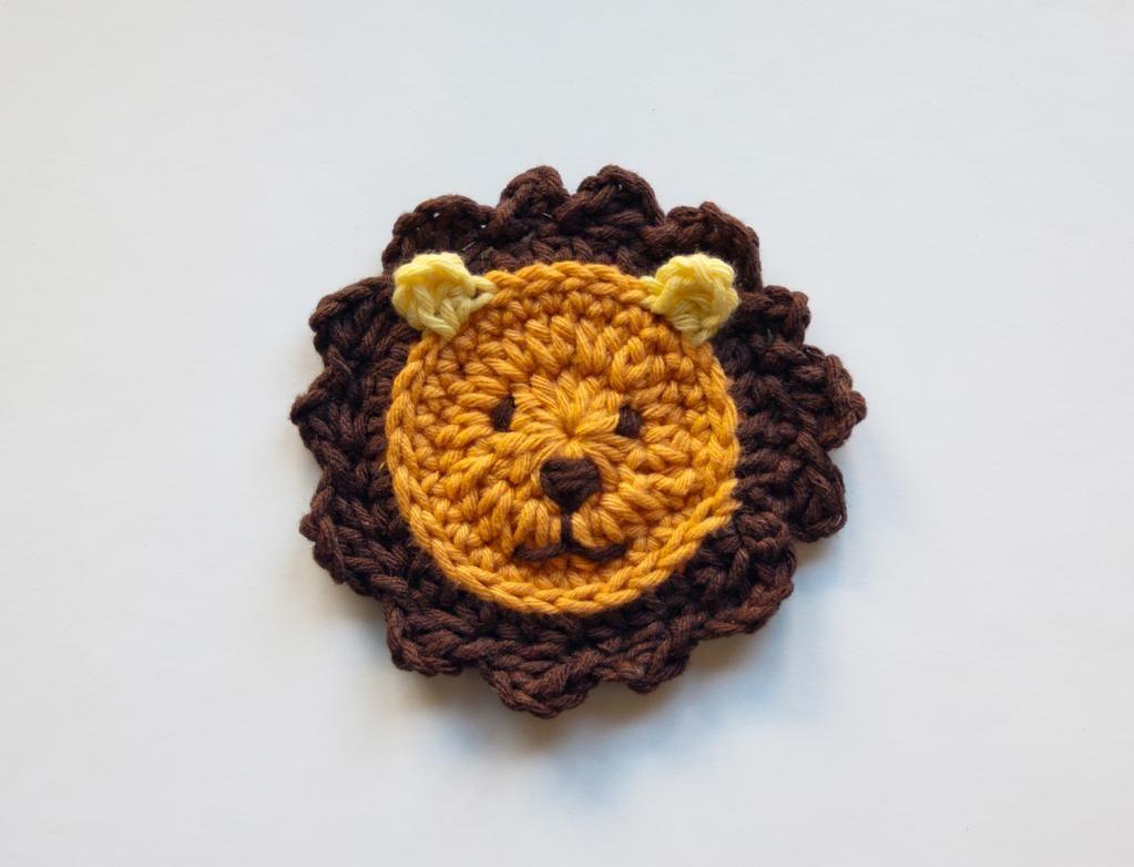 Lion Applique Applique Pinterest Crochet Crochet Patterns And