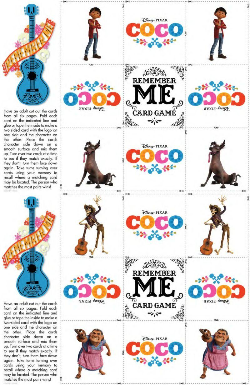 Free Disney Coco Game Printable