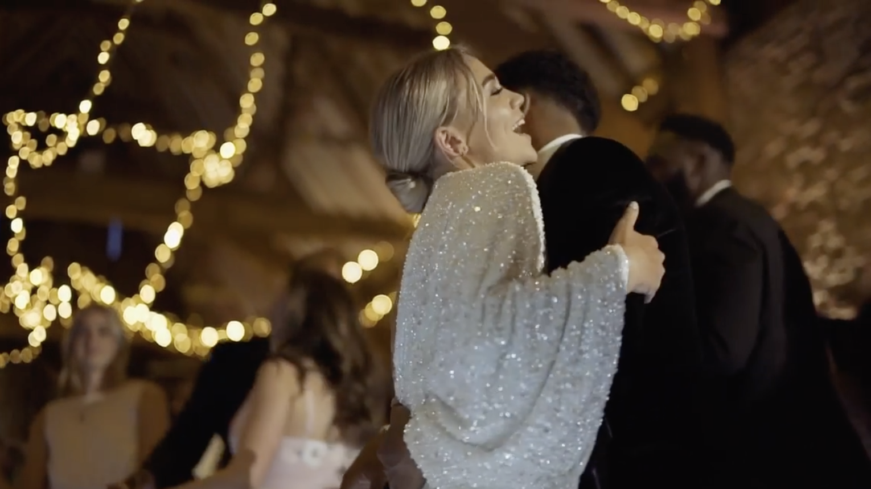 Asos Edition Ciara Sequin Kimono Sleeve Wedding Dress White Myonewedding Co Uk In 2020 Real Brides Wedding Dresses Asos Wedding Dress Sleeve Wedding Dress