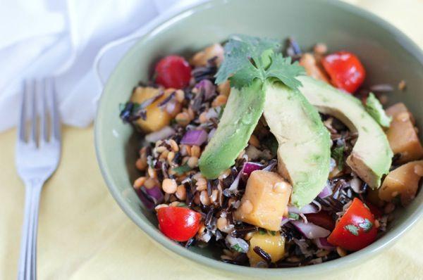 Wild Rice Mango Salad