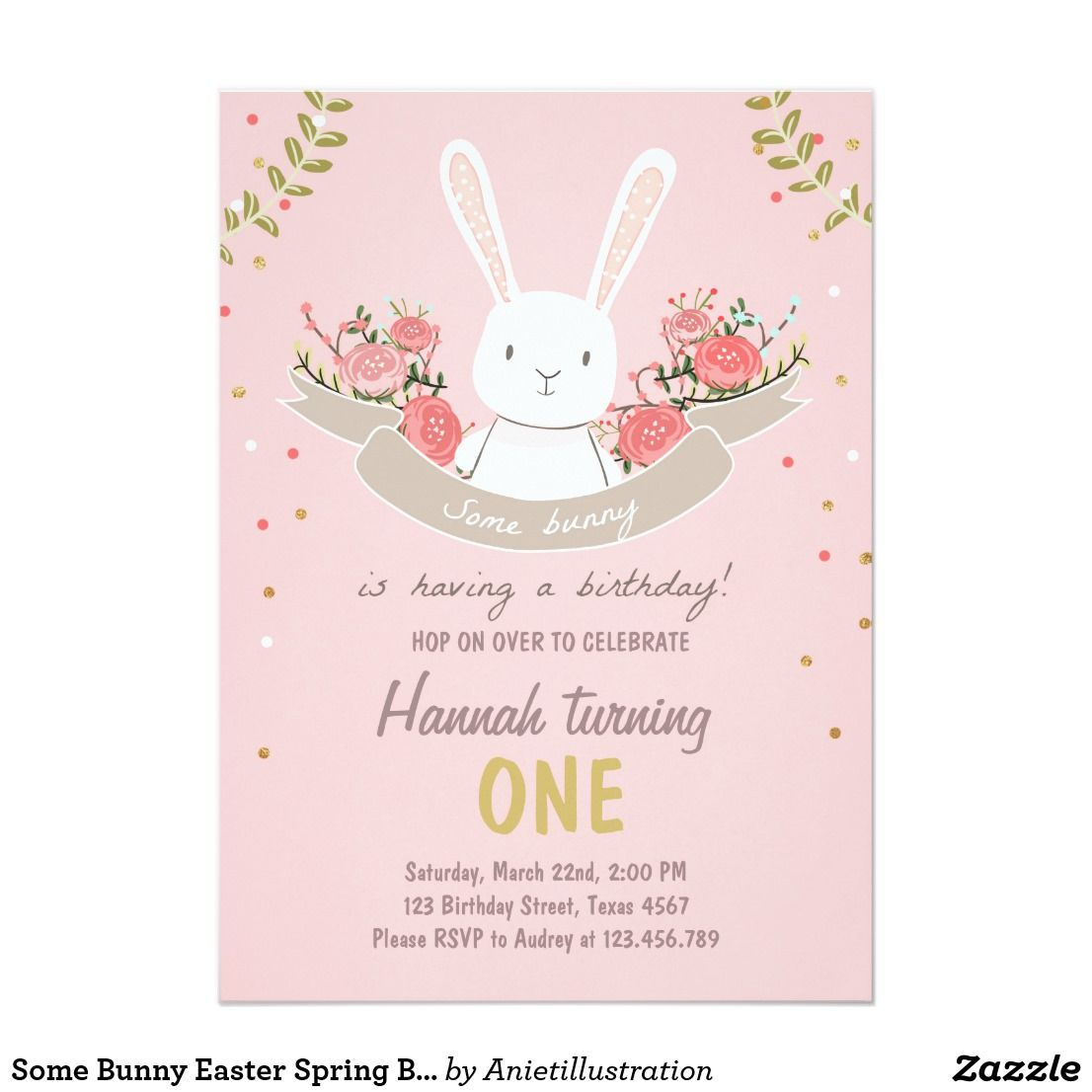 some bunny easter spring birthday