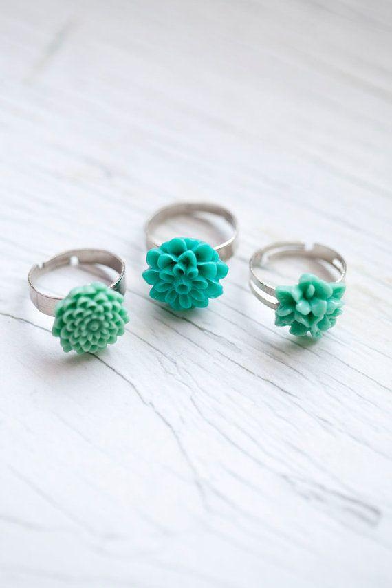 Mint Flower Ring