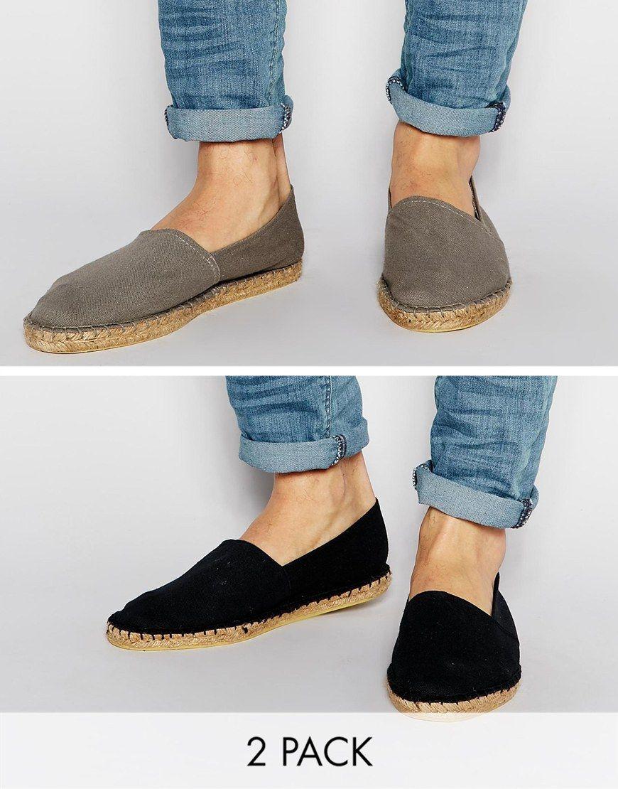 Buy Men Shoes / Asos Canvas Espadrilles 2 Set Save 20%