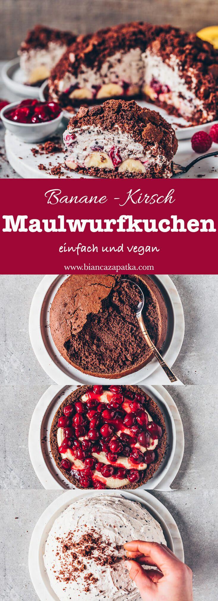 Maulwurfkuchen mit Banane und Kirschen (vegan) - Bianca Zapatka | Rezepte