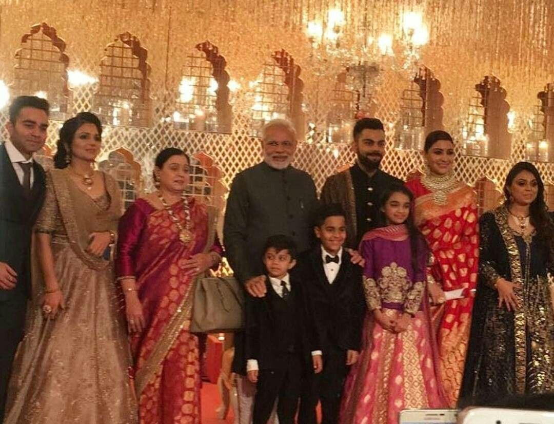 Virat Kohli S Family With The Prime Minister At Virushka