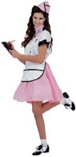 a23914ea70ad 1950's Style, Soda Shop Waitress Uniform. 50s Outfits, Costume Accessories,  Sock Hop