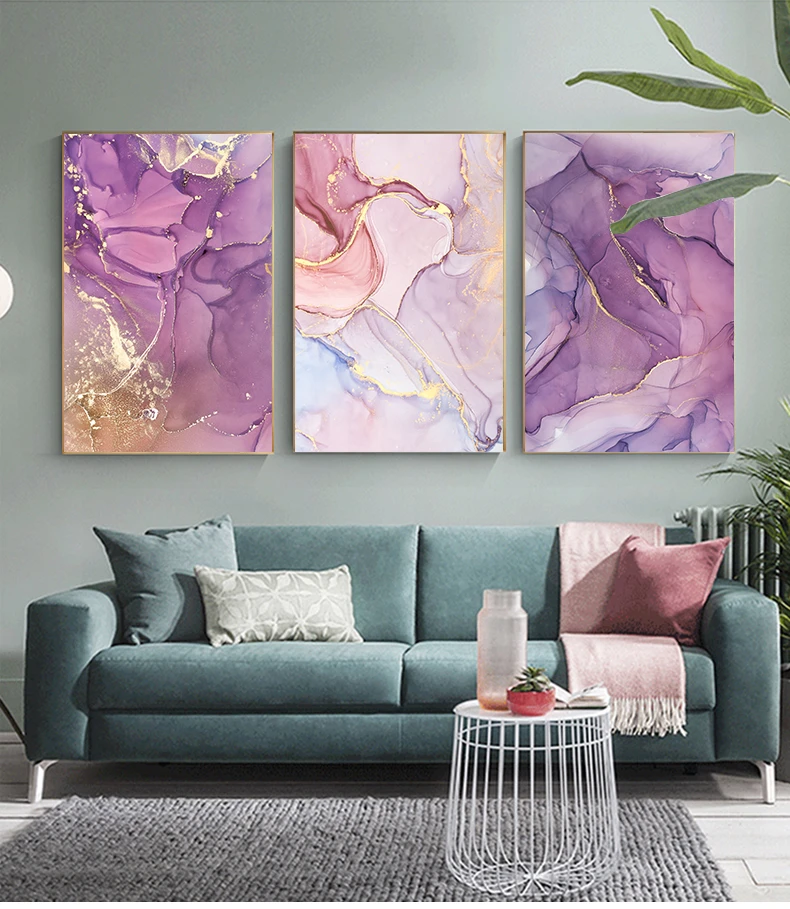 Purple Pink Abstracts Modern Contemporary Wall Art Fine Art Canvas Prints House Boutique In 2020 Purple Wall Decor Wall Art Living Room Canvas Wall Decor