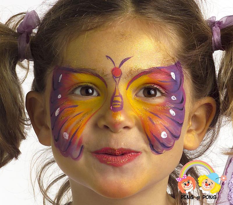Model Pictura Pe Fata Pentru Copii Fluturas Face Painting