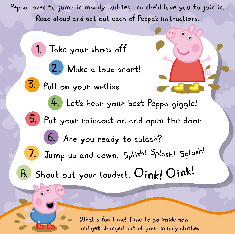 Step By Step Peppa Pig Muddy Puddles Peppapig