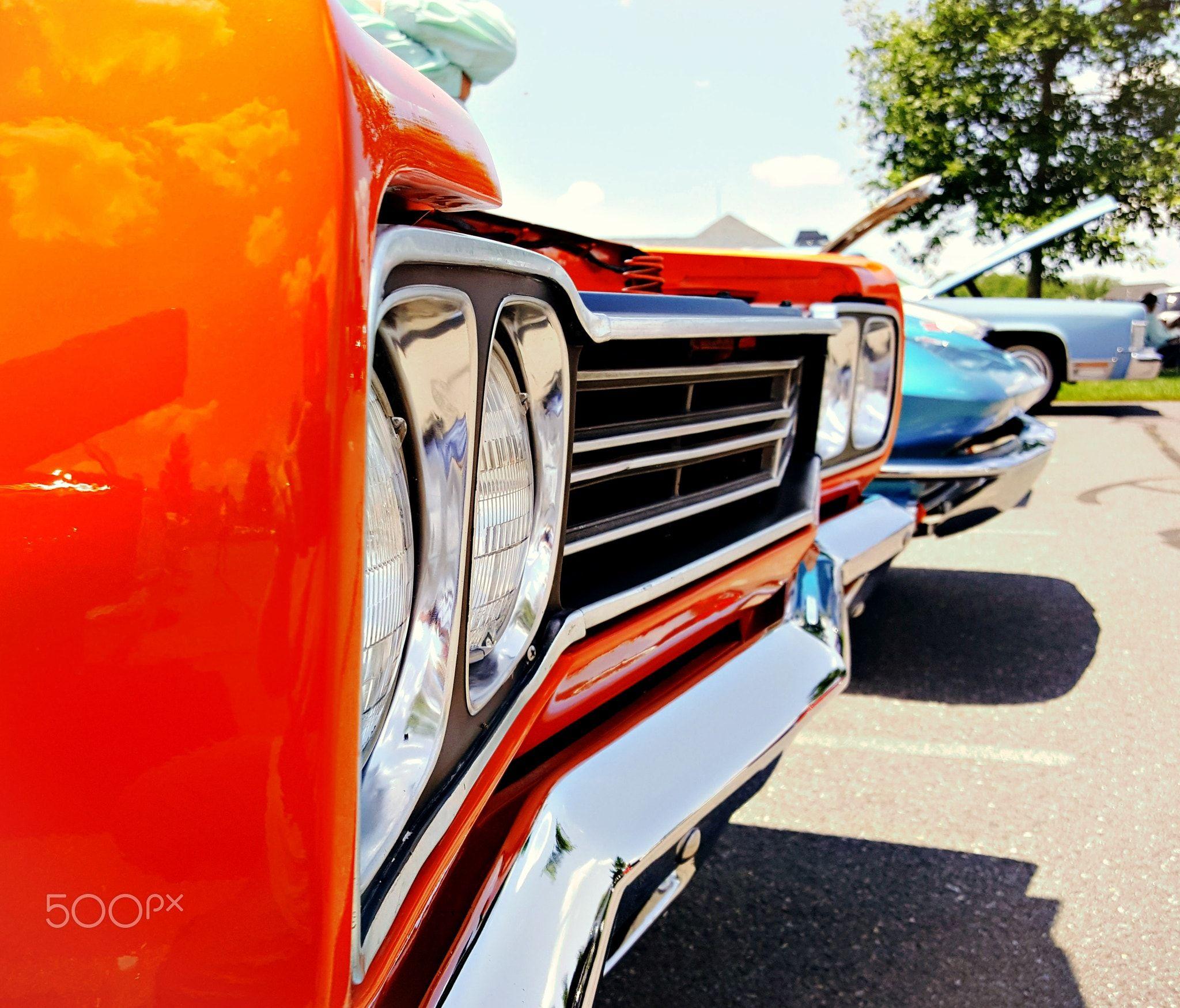 Orange muscle car front end / Delaware car show - Antique/vintage ...