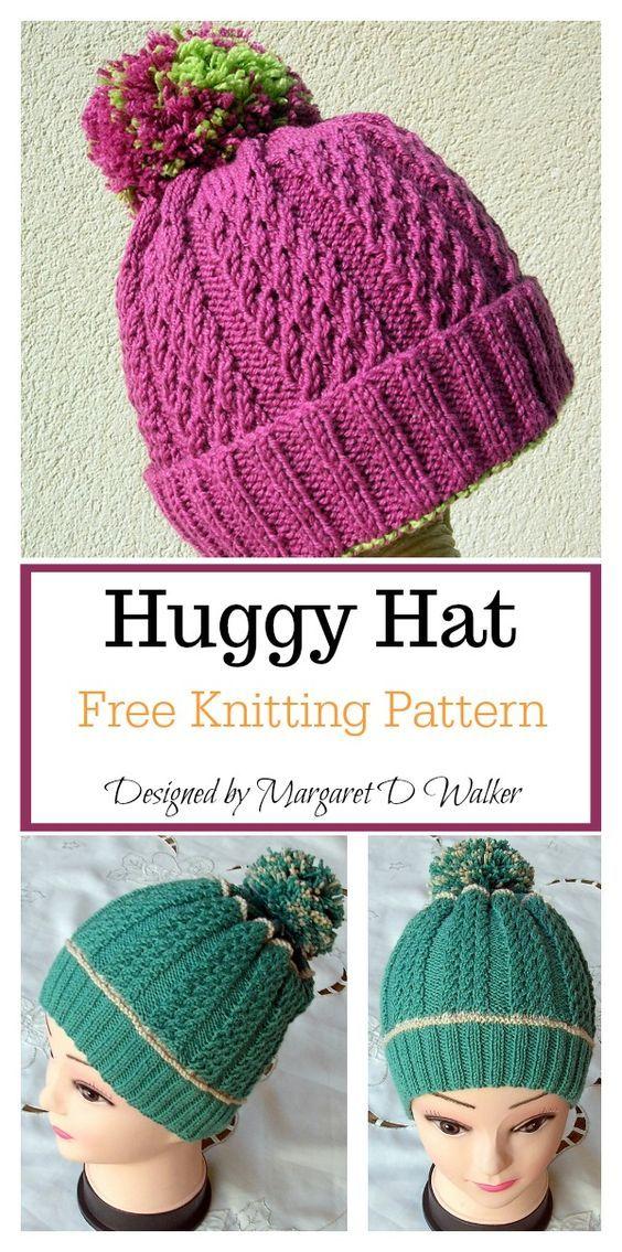 Huggy Hat Free Knitting Pattern | Knit beanie pattern ...