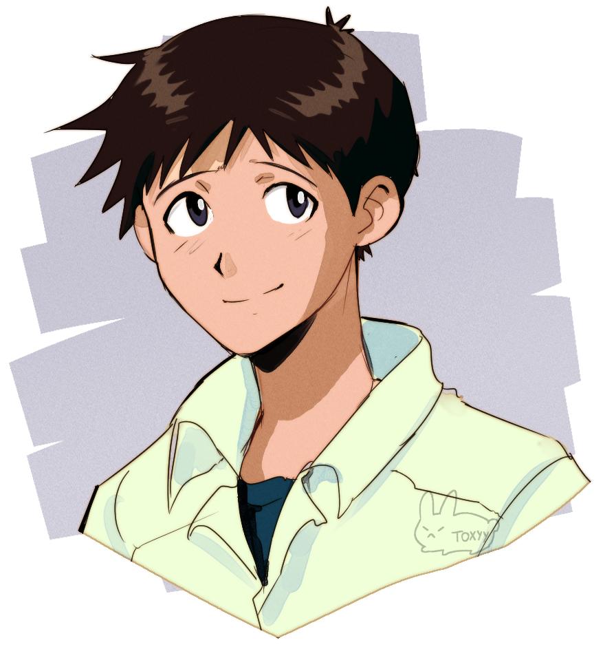 Shinji Ikari By Toxyys On Deviantart Neon Evangelion Neon Genesis Evangelion Evangelion