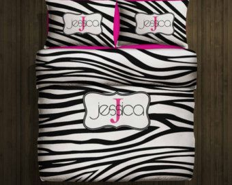 Interior Design Your Own Bedding zebra print custom duvet bedding set personalized wmonogram name cover or comforter monogrammed design your own