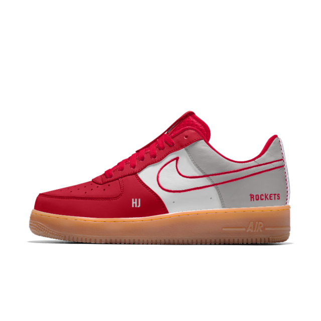 sale retailer cdc61 e75e1 Nike Air Force 1 Low Premium iD (Houston Rockets) Men s Shoe