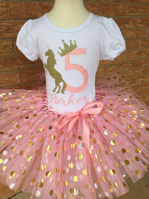 Fifth Birthday Shirt 5th Outfit Girls Unicorn Party