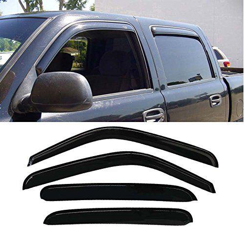 With 4 Full Size Doors Mifeier 4pc Sun//Rain Guard Vent Shade Window Visor For Chevy//GMC//Cadillac Crew Cab PU//SUV Wind Deflector