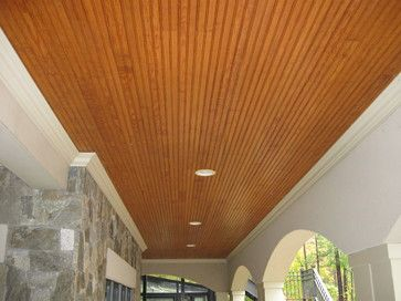 Tongue And Groove Porch Ceiling Contemporary Porch Back