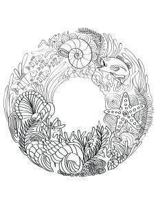 lilt kids garden ocean adult coloring book image more colouring pages - Ocean Coloring Book