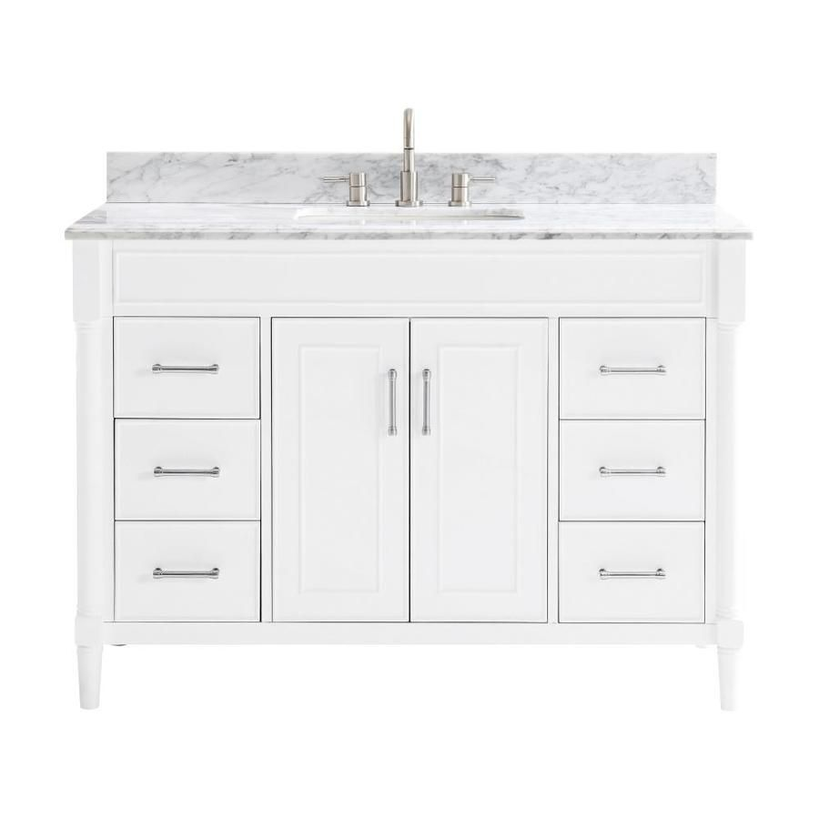 Allen Roth Perrella 49 In White Single Sink Bathroom Vanity With