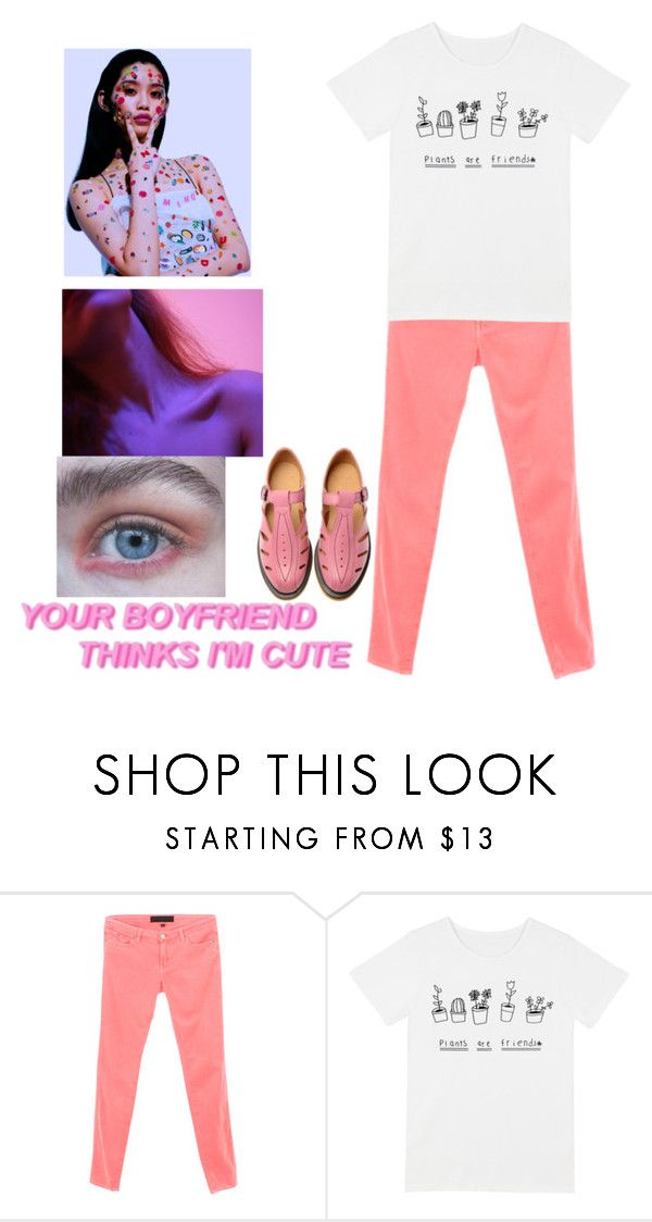 """""""brightness won't kill you"""" by gb041112 ❤ liked on Polyvore featuring Karl Lagerfeld and Dr. Martens"""