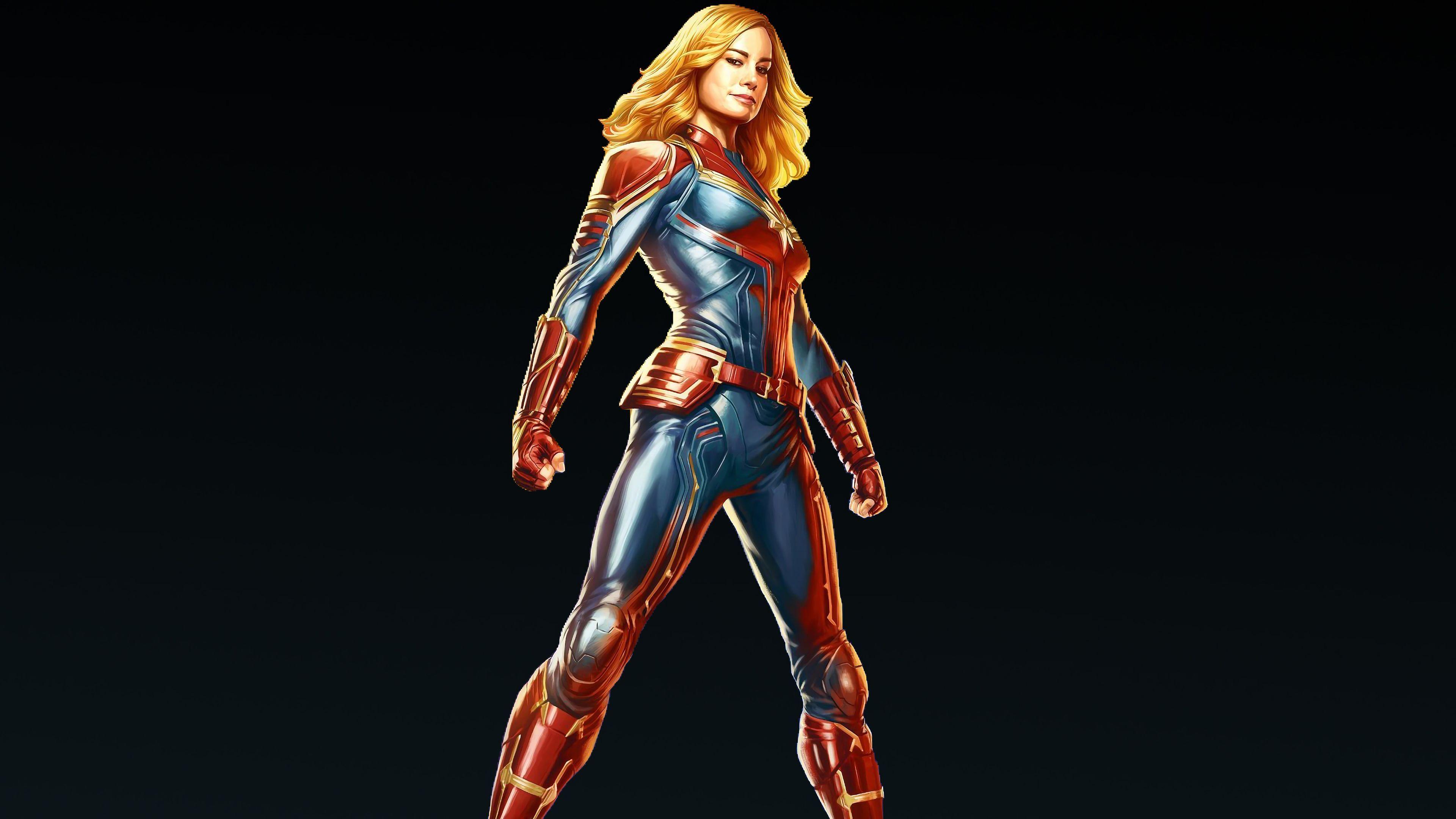 Captain Marvel Fantasy Art Wallpapers Hd Desktop And: Captain Marvel Carol Danvers 4k Superheroes Wallpapers, Hd