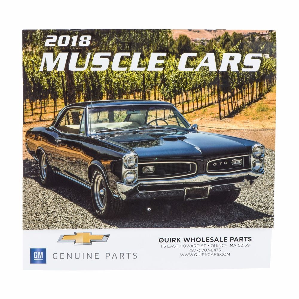 Brand New 2018 Muscle Car Calendar Gm Genuine P Muscle Cars