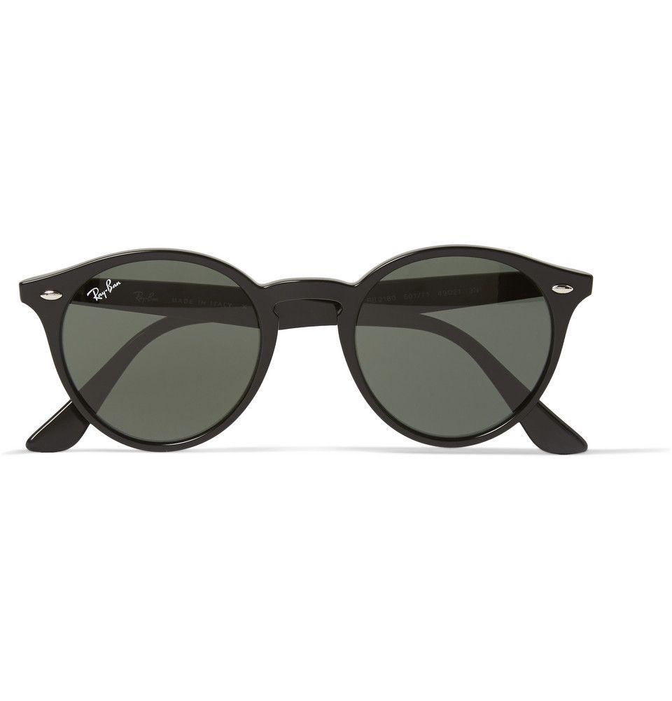 4b787fa375 Ray-Ban - 2180 Round-Frame Acetate Sunglasses