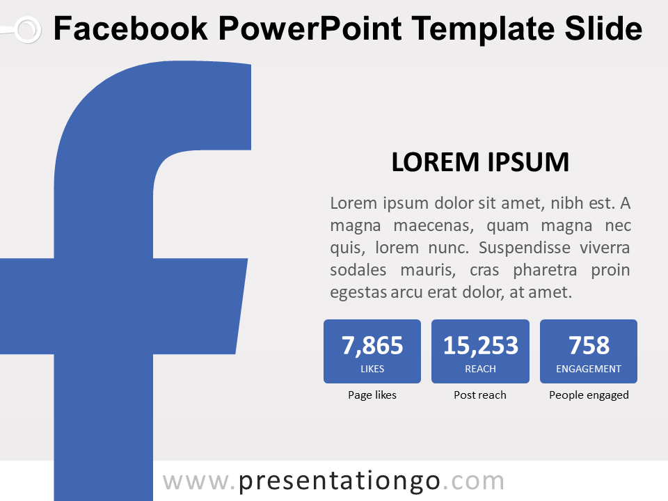 Free Facebook Orientation Slide Powerpoint Template