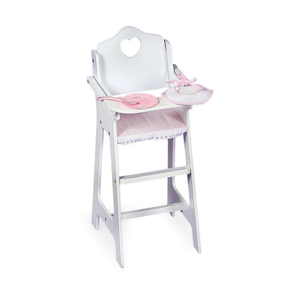 Badger Basket Doll High Chair Set Doll High Chair Wooden High
