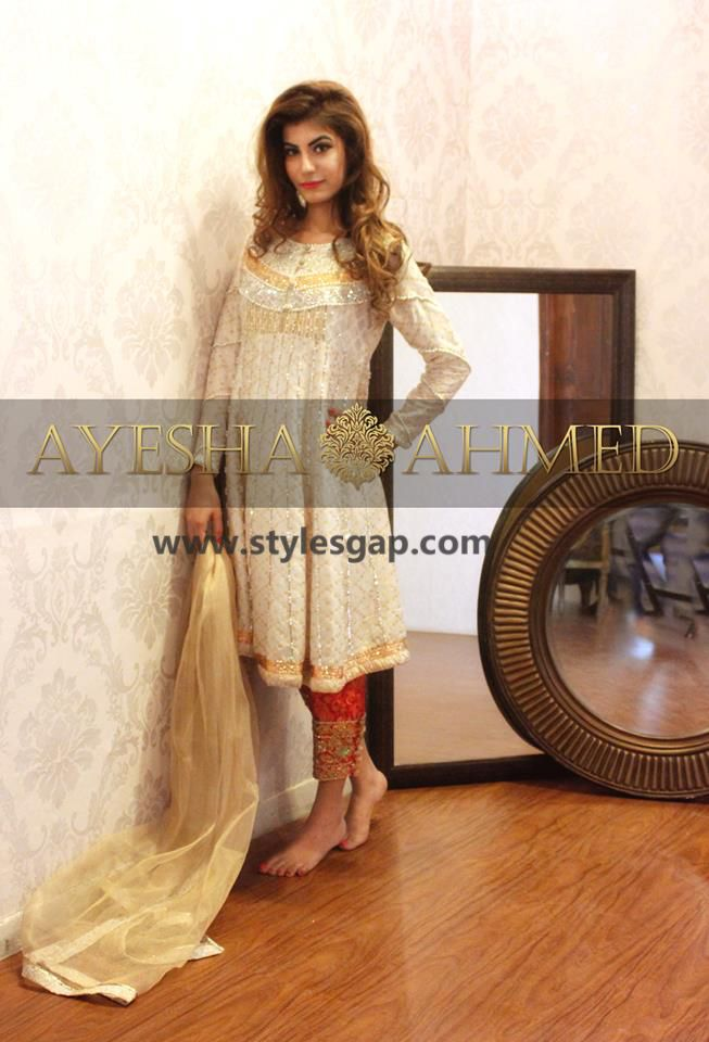 Ayesha Ahmed Formals Party Wear Dresses Designs 2016-2017 Collection ...