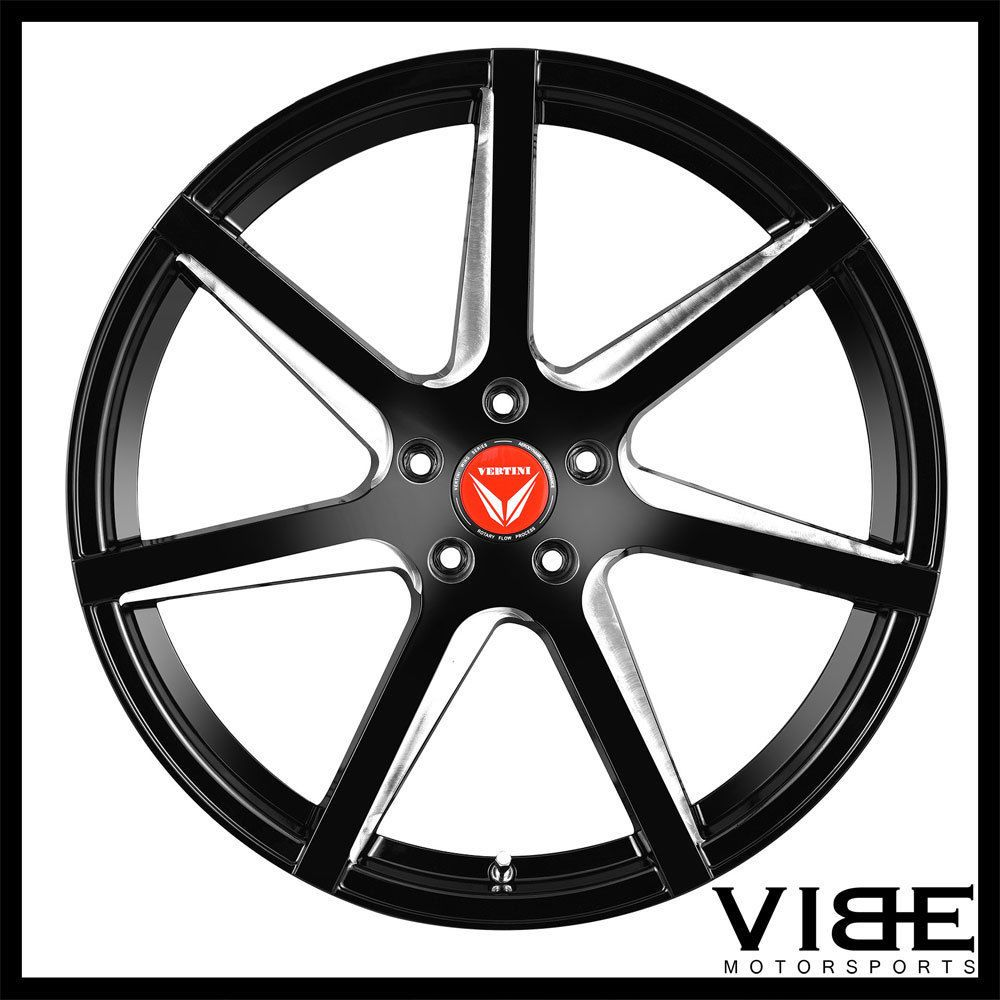 20 vertini wing 7 gloss black concave wheels rims fits jaguar xj
