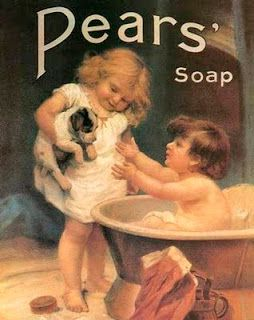 "ArtbyJean - Vintage Clip Art: Four different vintage advertising poster prints for ""Pears Soap""-"