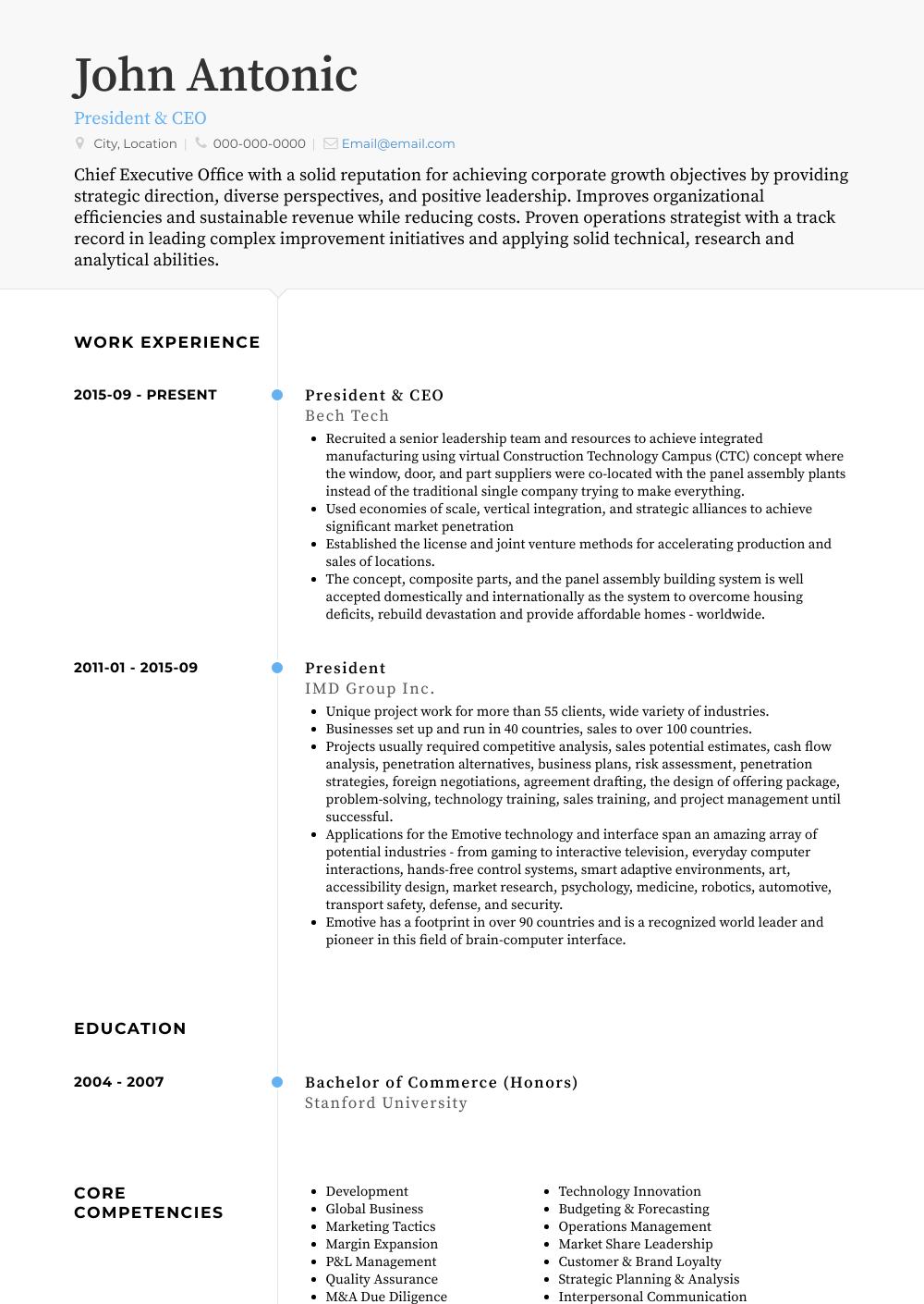 Resume Template Blue Professional Resume Resume Template Resume Design