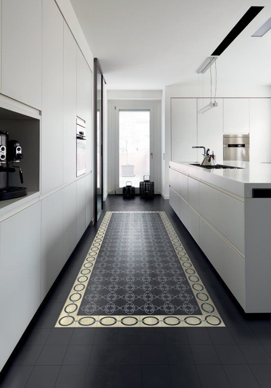 Un carrelage de sol comme un tapis kitchen pinterest for Carrelage vs parquet