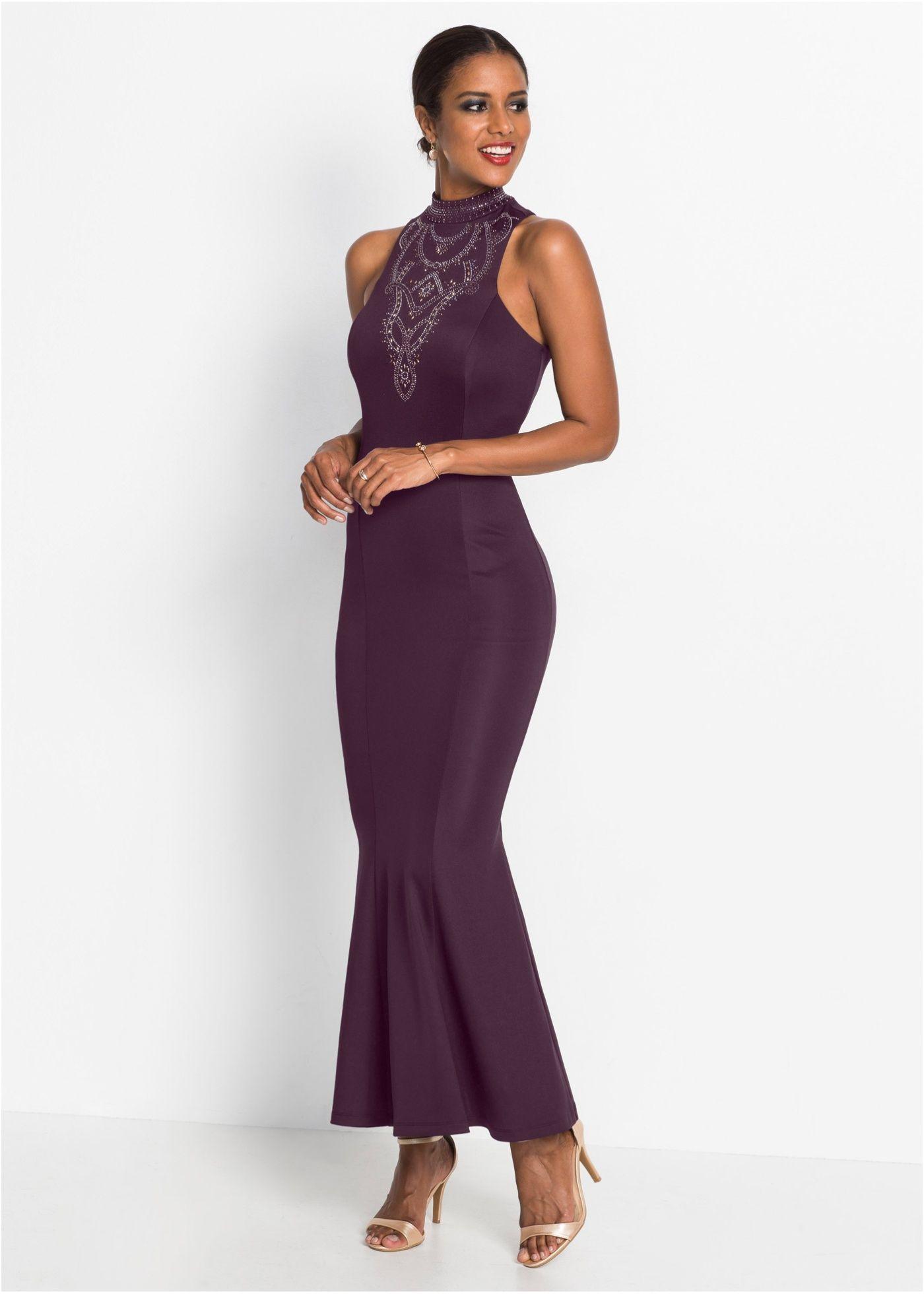 Abendkleid dunkellila jetzt im Online Shop von bonprix.de ...